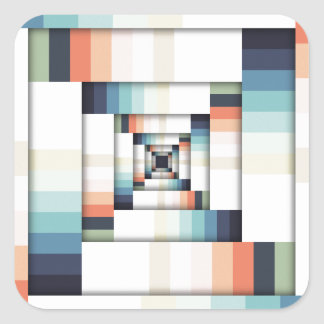 Adesivo Quadrado Caixas das cores