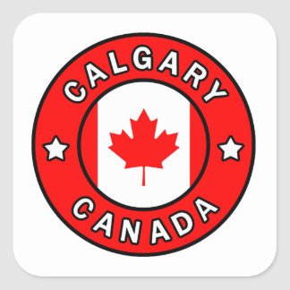 Adesivo Quadrado Calgary Canadá