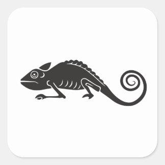 Adesivo Quadrado camaleão simples