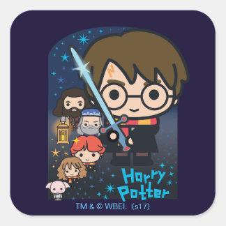 Adesivo Quadrado Câmara de Harry Potter dos desenhos animados dos