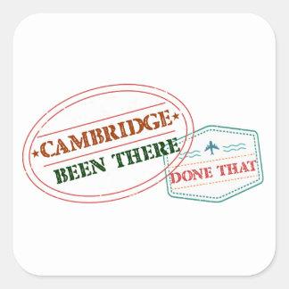 Adesivo Quadrado Cambridge feito lá isso