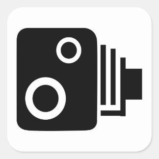 Adesivo Quadrado Câmera isolada da velocidade