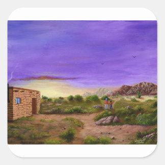 Adesivo Quadrado Caminhada do deserto