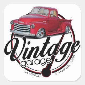 Adesivo Quadrado Caminhão da garagem do vintage