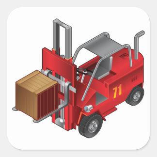 Adesivo Quadrado Caminhão de empilhadeira