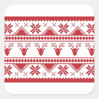 Adesivo Quadrado camisola feia do Natal