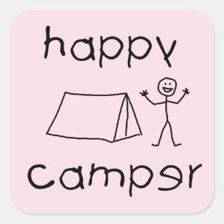 Adesivo Quadrado Campista feliz (preto)