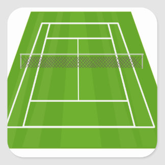 Adesivo Quadrado Campo de ténis