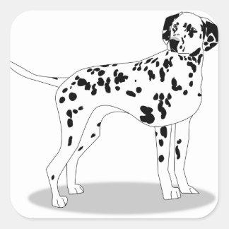 Adesivo Quadrado Cão de Dalmation