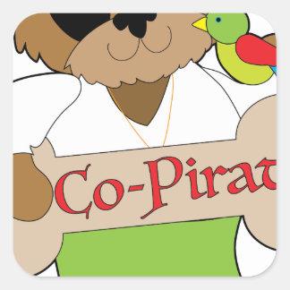 Adesivo Quadrado Cão do Co-Pirata