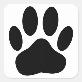 Adesivo Quadrado Cão Pawprint