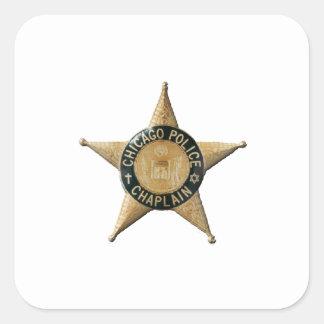 Adesivo Quadrado Capelão da polícia de Chicago