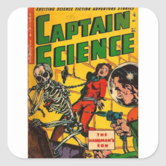 Adesivo Quadrado Capitão Ciência