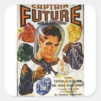 Adesivo Quadrado Capitão Futuro e as pedras do espaço