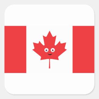 Adesivo Quadrado Cara canadense da folha de bordo