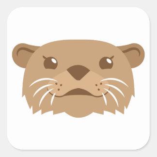 Adesivo Quadrado cara da lontra