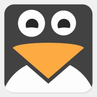 Adesivo Quadrado Cara do pinguim