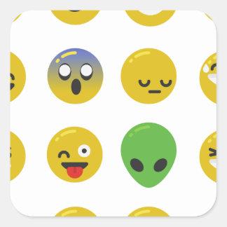 Adesivo Quadrado Cara feliz de Emoji