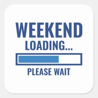 Adesivo Quadrado Carga do fim de semana