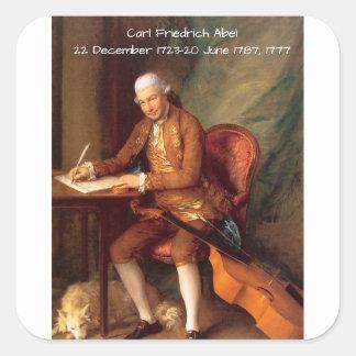 Adesivo Quadrado Carl Friedrich Abel