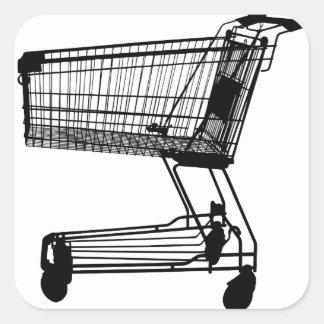Adesivo Quadrado Carrinho de compras