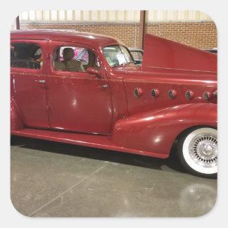 Adesivo Quadrado Carro do clássico do vintage