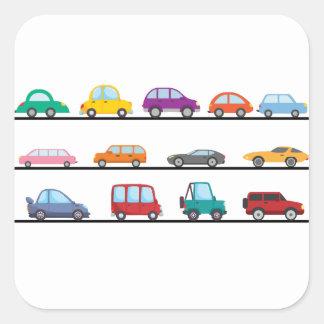 Adesivo Quadrado carros