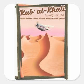 Adesivo Quadrado Cartaz das férias de Khali Arábia Saudita do al de