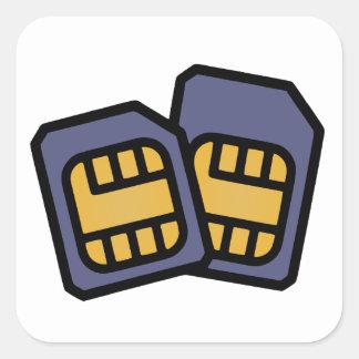 Adesivo Quadrado Cartões de SIM