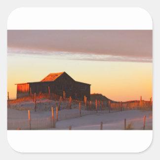 Adesivo Quadrado Casa no por do sol - 1