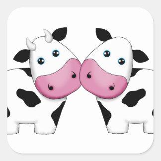 Adesivo Quadrado Casal da vaca