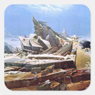 Adesivo Quadrado CASPAR DAVID FRIEDRICH - o mar do gelo 1824