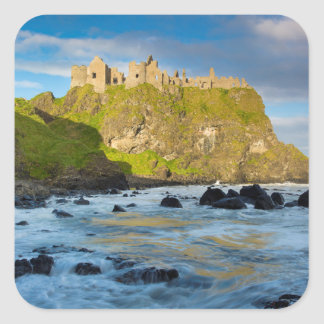 Adesivo Quadrado Castelo litoral de Dunluce, Ireland