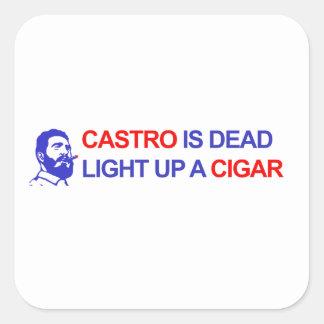 Adesivo Quadrado Castro está inoperante. Ilumine acima um charuto