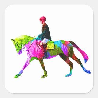 Adesivo Quadrado Cavaleiro colorido