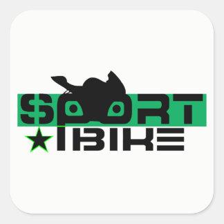 Adesivo Quadrado Cavaleiro de Sportbike