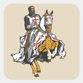 Adesivo Quadrado Cavaleiro de Templar