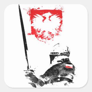 Adesivo Quadrado Cavaleiro polonês