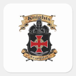 Adesivo Quadrado Cavaleiros Templar