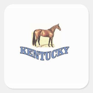 Adesivo Quadrado Cavalo de Kentucky