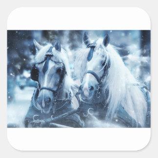 Adesivo Quadrado cavalos