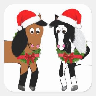 Adesivo Quadrado Cavalos do Natal