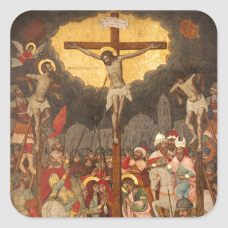 Adesivo Quadrado Cena 1711 da crucificação