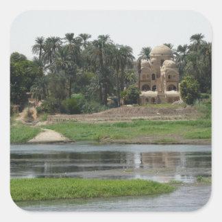 Adesivo Quadrado Cena de Nile do rio