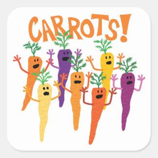 Adesivo Quadrado Cenouras!