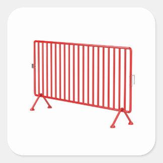 Adesivo Quadrado Cerca móvel vermelha