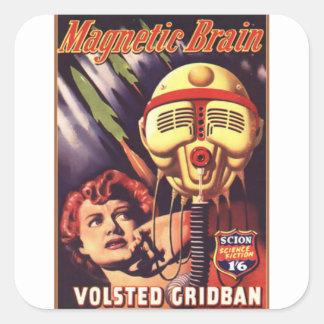 Adesivo Quadrado Cérebro magnético