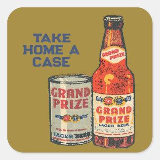 Adesivo Quadrado Cerveja de cerveja pilsen premiada grande neta um