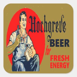 Adesivo Quadrado Cerveja de Hochgreve