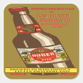 Adesivo Quadrado Cerveja de Huber